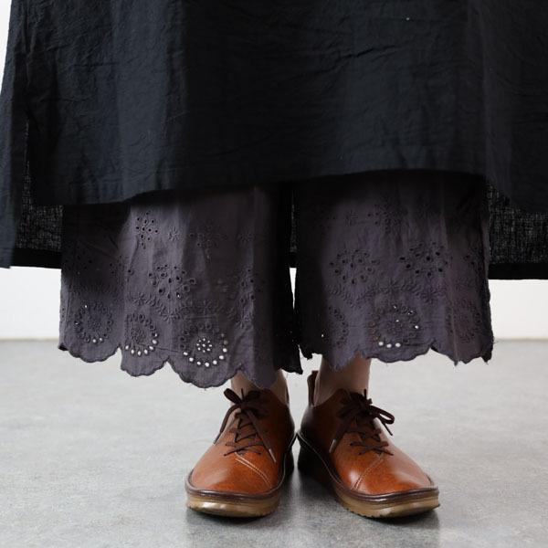 ペチパンツ ロング 綿 コットン 裾レース スカラップ 8分丈 春 夏 ナチュラル 30代 40代 メール便可|room0616|17