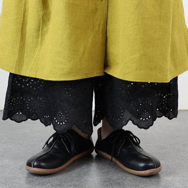 ペチパンツ ロング 綿 コットン 裾レース スカラップ 8分丈 春 夏 ナチュラル 30代 40代 メール便可|room0616|22