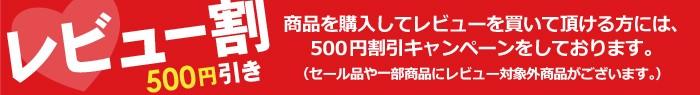 500円レビュー割引実施中!