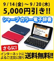 シャープカラー電子辞書