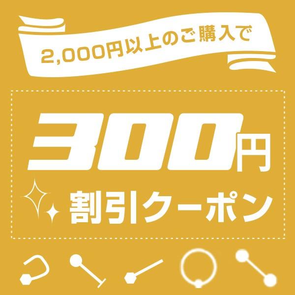 いつでも使える♪2000円以上ご購入で300円OFFクーポン!