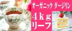 紅茶オーガニックダージリン4kgリーフ