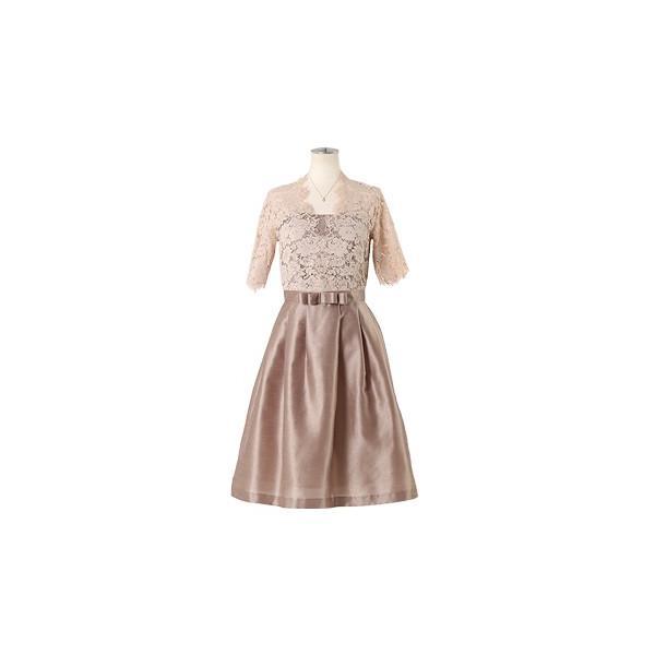 ドレス お呼ばれ 結婚式 ワンピース 袖あり 成人式 二次会 パーティ 大きいサイズ ブラック ひざ丈 ミモレ レース 20代 30代 40代 セール FD-052136|rs-gown|20