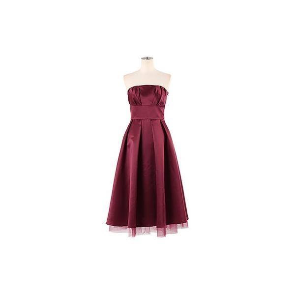 ドレス 結婚式 お呼ばれ ワンピース ミモレ丈 ベアトップ パーティ ブライズメイド ウェディング 同窓会 二次会 大きいサイズ 演奏会 20代 30代 40代 FD-250078|rs-gown|21