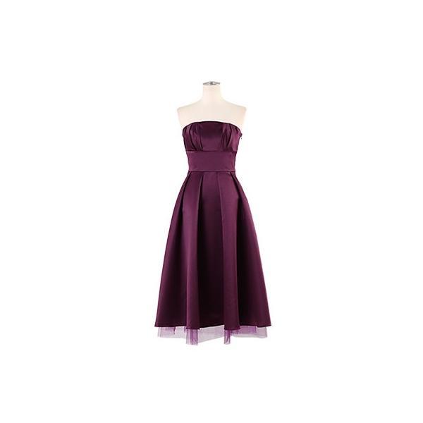 ドレス 結婚式 お呼ばれ ワンピース ミモレ丈 ベアトップ パーティ ブライズメイド ウェディング 同窓会 二次会 大きいサイズ 演奏会 20代 30代 40代 FD-250078|rs-gown|20