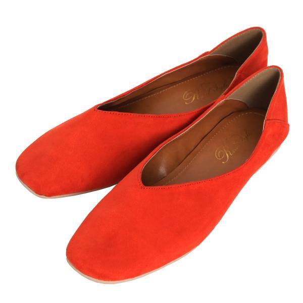 パンプス 痛くない ぺたんこ バブーシュ レディース フラットシューズ 靴 スクエアトゥ スウェード フェイクレザー 1912ss|ruckruck|15