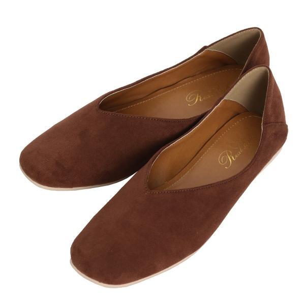 パンプス 痛くない ぺたんこ バブーシュ レディース フラットシューズ 靴 スクエアトゥ スウェード フェイクレザー 1912ss|ruckruck|16