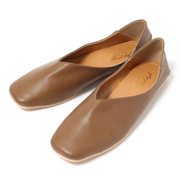 パンプス 痛くない ぺたんこ バブーシュ レディース フラットシューズ 靴 スクエアトゥ スウェード フェイクレザー 1912ss|ruckruck|13