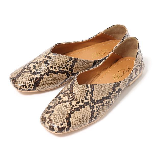 パンプス 痛くない ぺたんこ バブーシュ レディース フラットシューズ 靴 スクエアトゥ スウェード フェイクレザー 1912ss|ruckruck|14