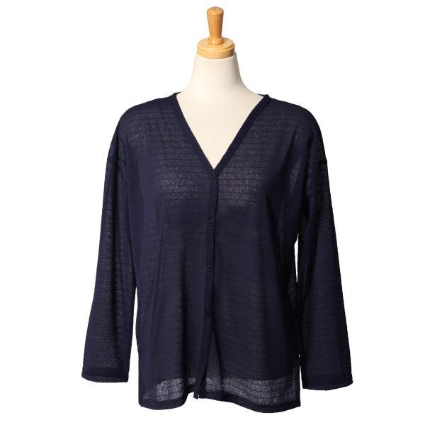 カーディガン レディース トップス 羽織り 上着 長袖  薄手 透け感 シンプル 紫外線対策  スリット入り ゆったり 2001m|ruckruck|12