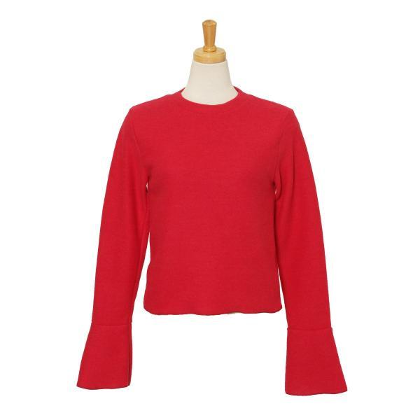 ニット レディース トップス ふわふわ 暖か あったか 長袖 フレアスリーブ きれいめ 上品 可愛い 大人 伸縮性 軽量|ruckruck|10
