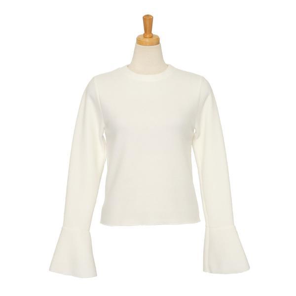 ニット レディース トップス ふわふわ 暖か あったか 長袖 フレアスリーブ きれいめ 上品 可愛い 大人 伸縮性 軽量|ruckruck|13