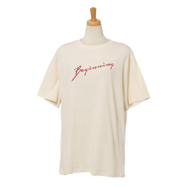 Tシャツ レディース カットソー 春 夏 半袖 ゆったり 大きめ 綿100% ロング ロゴ プリント カジュアル ビッグ 英字 手書き風 2006ss|ruckruck|17