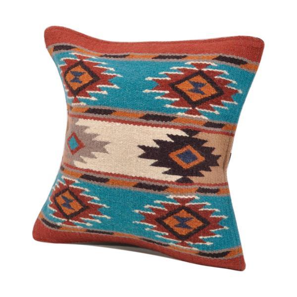 エルパソサドルブランケット (El Paso SADDLEBLANKET) Wool Maya Modern/ウールラグ素材クッションカバー[約46×46cm]|rugforest|23