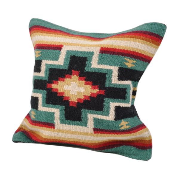 エルパソサドルブランケット (El Paso SADDLEBLANKET) Wool Maya Modern/ウールラグ素材クッションカバー[約46×46cm]|rugforest|26