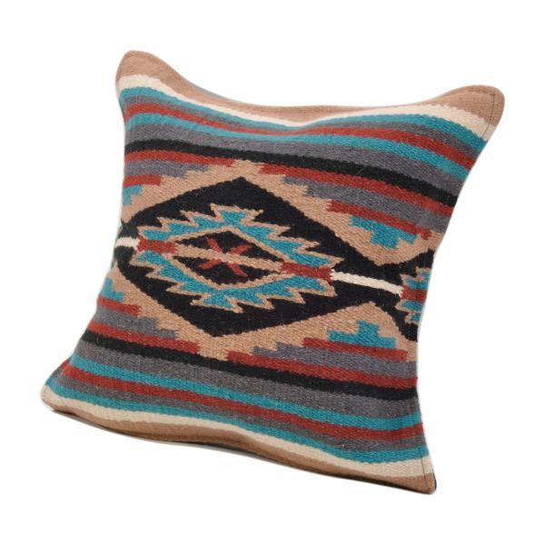 エルパソサドルブランケット (El Paso SADDLEBLANKET) Wool Maya Modern/ウールラグ素材クッションカバー[約46×46cm]|rugforest|27