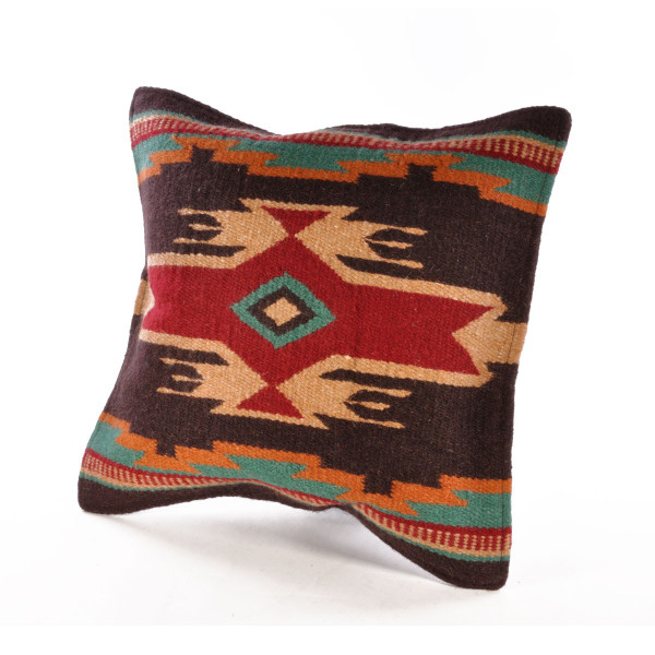 エルパソサドルブランケット (El Paso SADDLEBLANKET) Wool Maya Modern/ウールラグ素材クッションカバー[約46×46cm]|rugforest|14