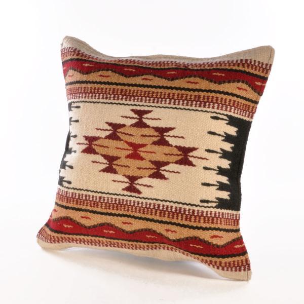 エルパソサドルブランケット (El Paso SADDLEBLANKET) Wool Maya Modern/ウールラグ素材クッションカバー[約46×46cm]|rugforest|11