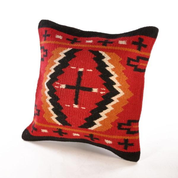 エルパソサドルブランケット (El Paso SADDLEBLANKET) Wool Maya Modern/ウールラグ素材クッションカバー[約46×46cm]|rugforest|17