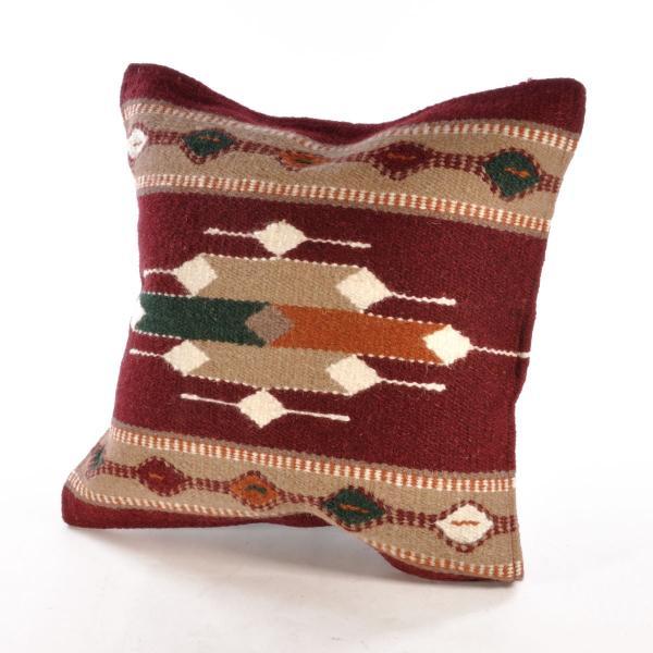 エルパソサドルブランケット (El Paso SADDLEBLANKET) Wool Maya Modern/ウールラグ素材クッションカバー[約46×46cm]|rugforest|18