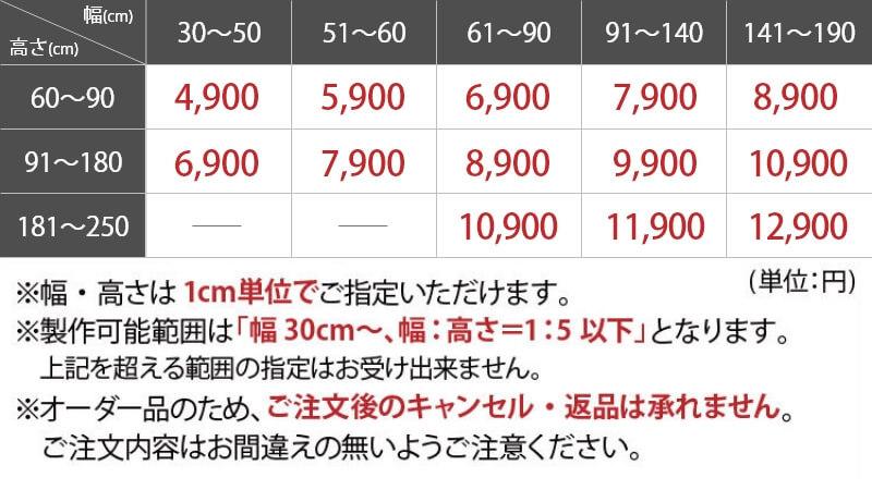 短納期価格表