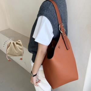 ショルダーバッグ レディース ミニバッグ バケツ型バッグ バケツバッグ 鞄 BAG A4 かばん カバン 肩掛け 変形 インナーバッグ 巾着 ポーチ|aquagarage(アクアガレージ)