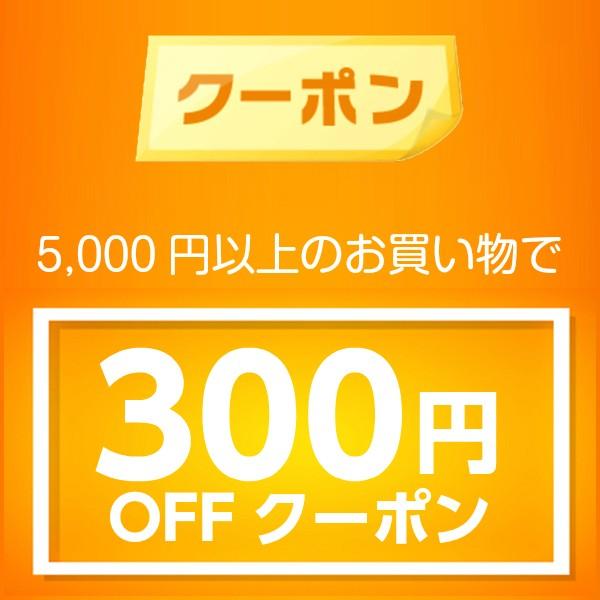【300円OFF】5000円(税込)以上のお買い物で、300円OFFお買い物クーポン!