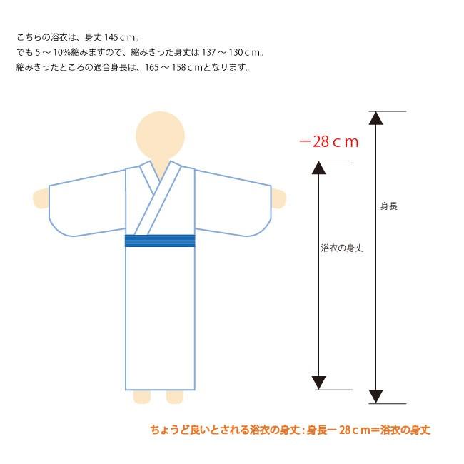 日本製 オリジナル柄 旅館浴衣 適合身長