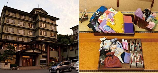 日本製 オリジナル柄 旅館浴衣 旅館風景