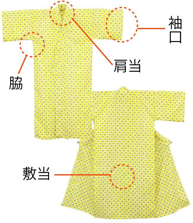 日本製 オリジナル柄 旅館浴衣 使用全体