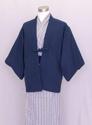 業務用 茶羽織半天 日本製 紺 白紺浴衣