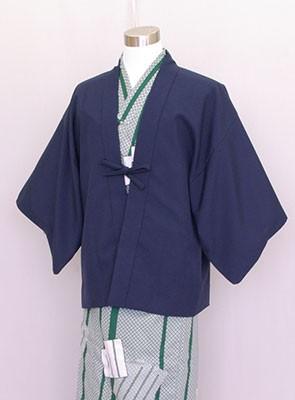 業務用 茶羽織半天 日本製 紺 カラー浴衣