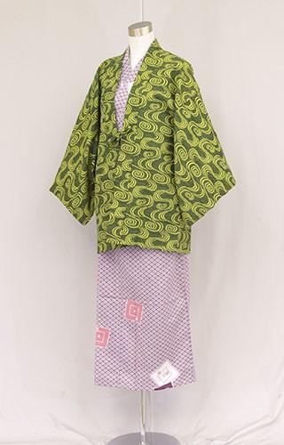 日本製 業務用 茶羽織半天 女性用浴衣