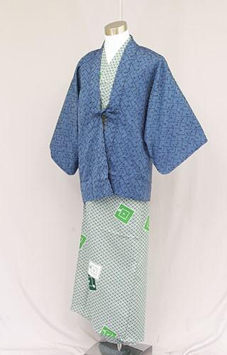 日本製 業務用 茶羽織半天 男性用浴衣