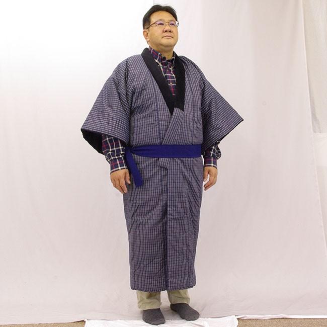 日本製 綿入り丹前 着たところ