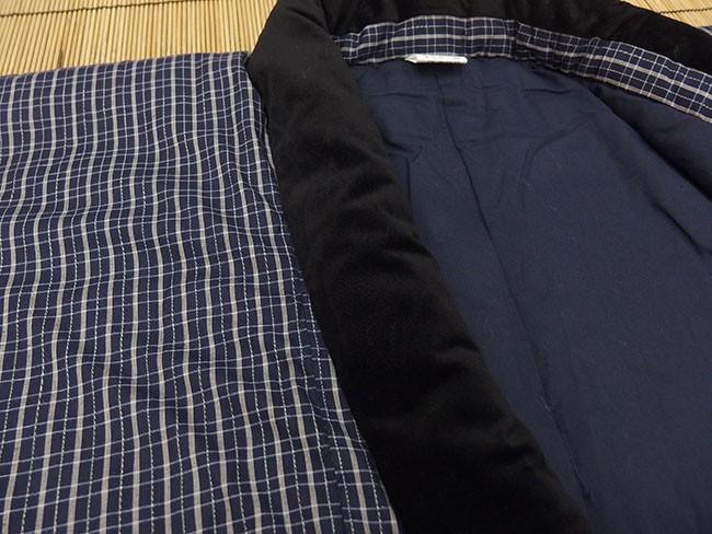 日本製 綿入り丹前 生地