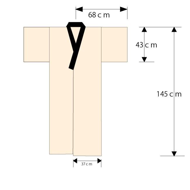 日本製 綿入り丹前 サイズ