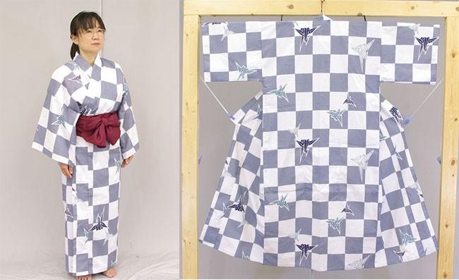 日本製 旅館浴衣 業務用 全体図