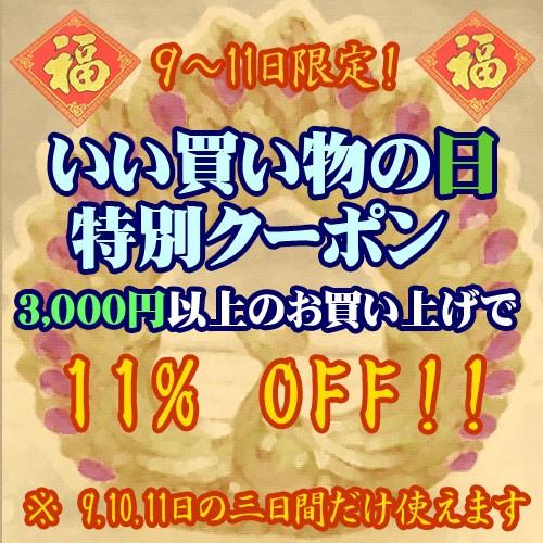 3000円以上で11%OFF!いい買い物の日クーポン