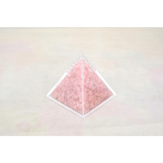 天然石チップ さざれ石 ピラミッド型ケース 5cm 選べる四種類 ryu 04