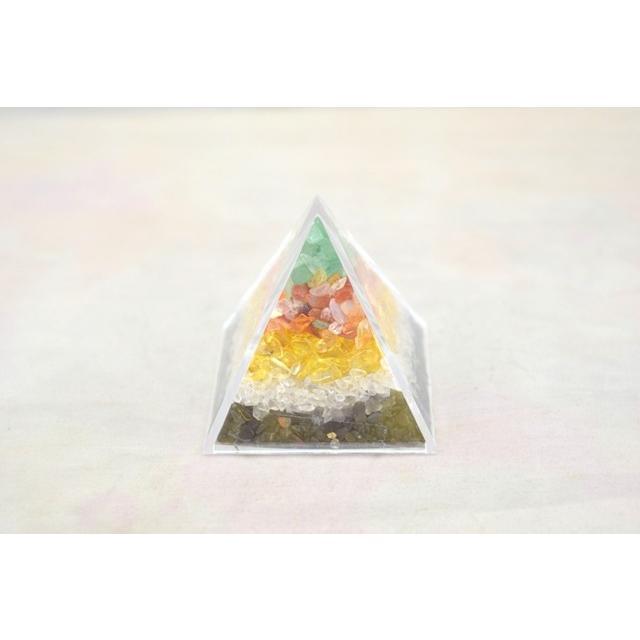 天然石チップ さざれ石 ピラミッド型ケース 5cm 選べる四種類 ryu 06