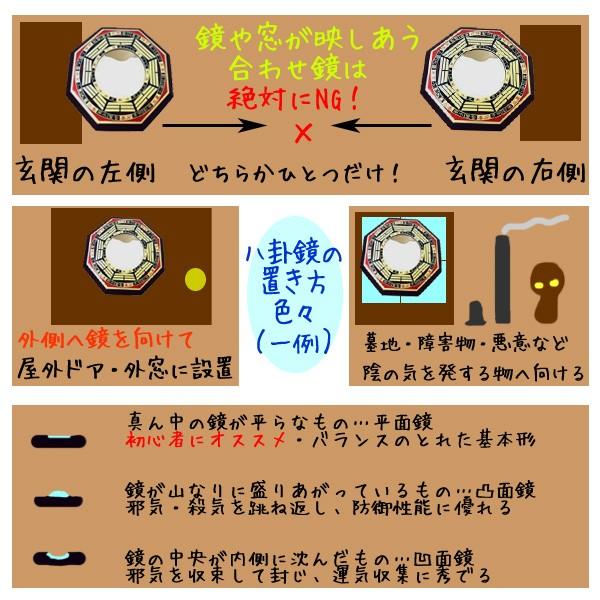 八卦鏡の置き方色々