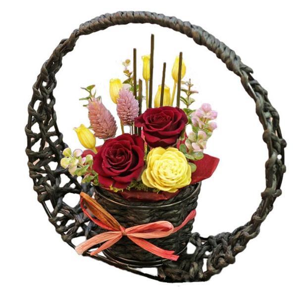 プリザーブドフラワー 送別 退職祝い プレゼント ギフト 和風 贈り物 送別 退職祝い 送別 誕生日 結婚祝い 記念日 お礼 還暦 お祝い 花 思い出のあとさき|s-arrange|20