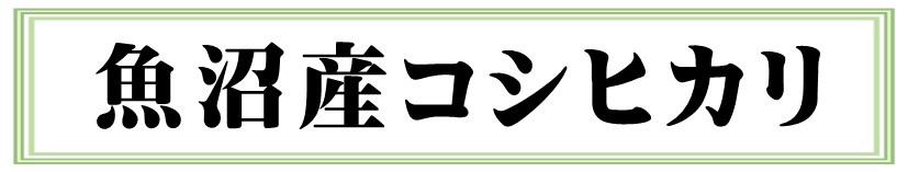 魚沼産コシヒカリ