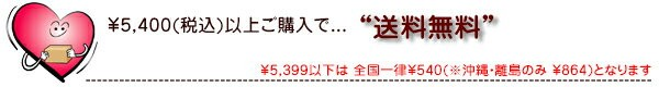 税別¥5000以上で送料無料です