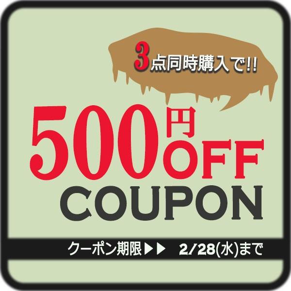 3点同時購入500円OFFクーポン
