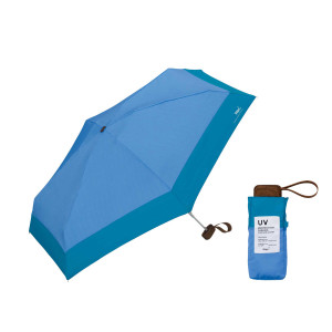 Wpc. 傘 日傘 折りたたみ傘 47cm UVカット 撥水 防水 メンズ レディース 801-6423 遮熱 遮光 遮蔽 切り継ぎタイニー 日焼け対策 熱中症対策 80-89cm サックスバーPayPayモール店