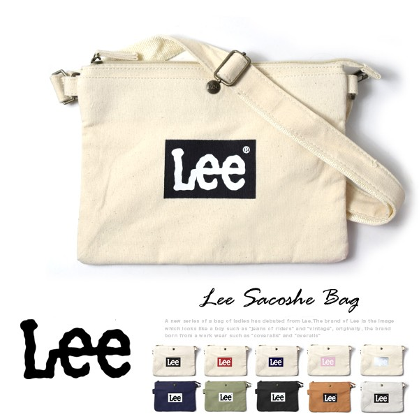 Lee -リー- サコッシュ コットン 2Wayショルダーバッグ