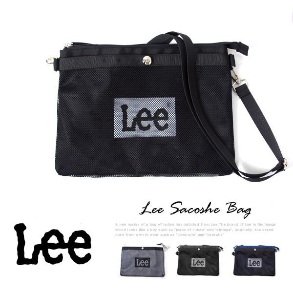 Lee -リー- サコッシュ メッシュポケット 2Wayショルダーバッグ