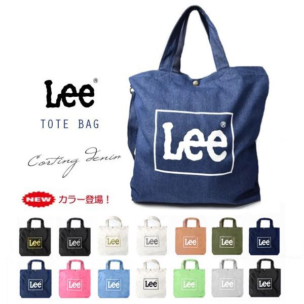 Lee -リー- トートバッグ コットン ビッグ 2Wayショルダーバッグ